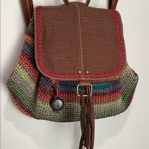 The Sak Avalon Convertible Backpack Crochet stripe